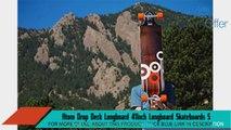Atom Drop Deck Longboard 41Inch Longboard Skateboards Sports and Outdoors
