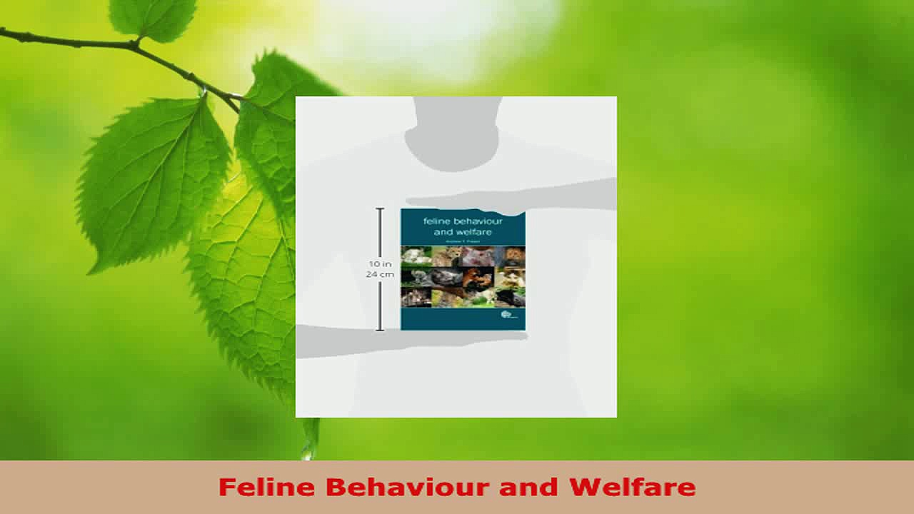Download  Feline Behaviour and Welfare PDF Online