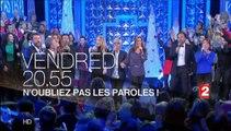 N'oubliez pas les paroles, le Prime du nouvel an : Gilbert Montagné, Fabrice Eboué, Bruno Guillon...