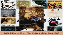 PDF Download  1000 Miles to Glory The History of the Baja 1000 Download Online