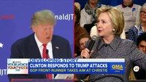 Donald Trump Blasts Chris Christie and Hillary Clinton