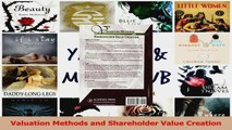 PDF Download  Valuation Methods and Shareholder Value Creation PDF Online