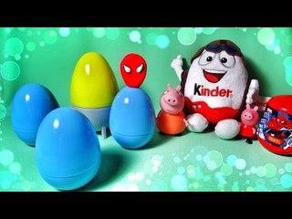 ✔ Шоколадные Яйца - Киндер Сюрприз. Забавная Свинка Пеппа. Видео для детей / Peppa pig toys ✔