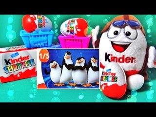 ✔ Шоколадные Яйца - Киндер Сюрприз. Детские Игрушки - Пингвины Мадагаскара / Penguins of Madagascar