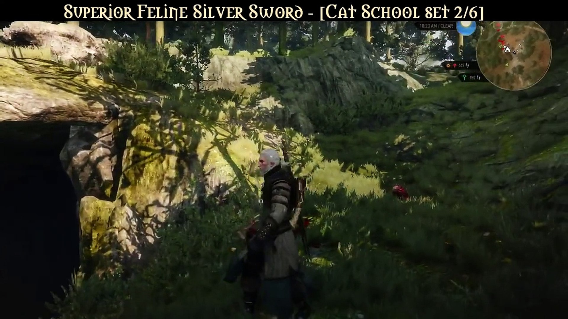 The Witcher 3 Wild Hunt Superior Cat School Gear Set Video Dailymotion