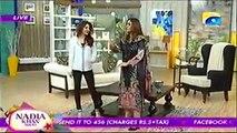 Nadia khan Show on Geo TV - 30th December 2015 - Part 1