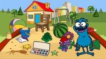 Lehrreicher Cartoon - Sammy Witzbold baut eine Sandburg - Suchspiel