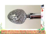 200cm wide Trade Eyelet curtain pole Polished Chrome with Alexia Mosaic Finials