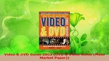 Read  Video  DVD Guide 2003 DVD  Video Guide Mass Market Paper Ebook Free