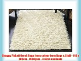 Shaggy Flokati Greek Rugs Ivory colour from Rugs