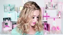 New Year's eve hairstyles 2016 for medium long hair tutorial Braided curly holiday updo
