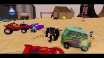 Donald Duck playtime party with Lightning McQueen FUN ! Water slides Playtime Kids video