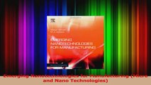 PDF Download  Emerging Nanotechnologies for Manufacturing Micro and Nano Technologies Read Full Ebook