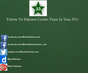 Tribute To Pakistan Cricket Team In Year 2015