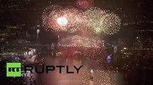 Australia- Sydney kicks off 2016 with New Year's celebrations on Harbour Bridge