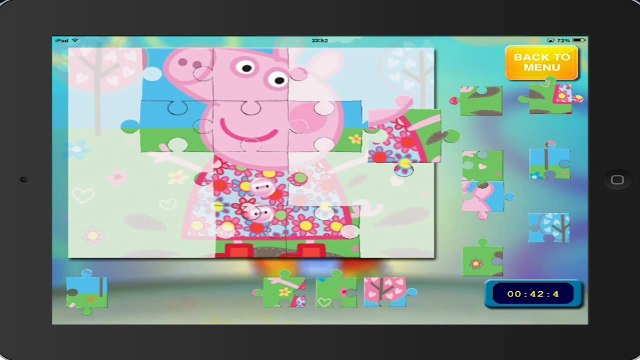 puzzle peppa pig PEPPA PIG puzzle 15 HD ipad english gameplay peppa pig game