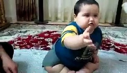 very funny video of cute and fat baby