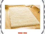 Large Heavy Weight Thick Luxurious Hand Tufted Wool Ivory Colour Shaggy Rug in 110 x 170 cm