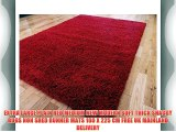 EXTRA LARGE PLAIN RED MEDIUM NEW MODERN SOFT THICK SHAGGY RUGS NON SHED RUNNER MATS 160 X 225