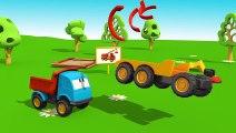 Meraklı kamyon Leo ve vinç - eğitici çizgi film - türkçe - Çizgi Film izle - Animasyon HD