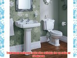 Traditional Bathroom Basin Sink and Toilet WC Set including Cistern Fittings and Chrome Lever