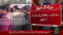 Breaking News- Islamabad Khuly Main Hole Ny 1 Shak Ki Jan Ly Li – 01 Jan 16 - 92 News HD