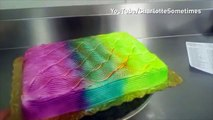 Optical illusion cake changes colour as it spins