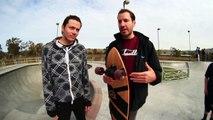 TREFLIP ON A LONGBOARD!? | SKATEBOARD TRICKS ON A LONGBOARD EP 2