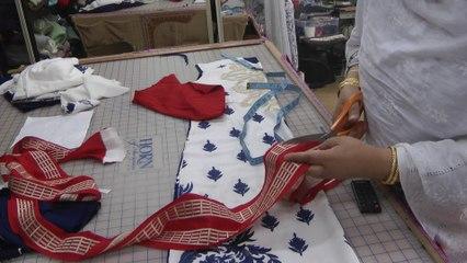 cutting the dress