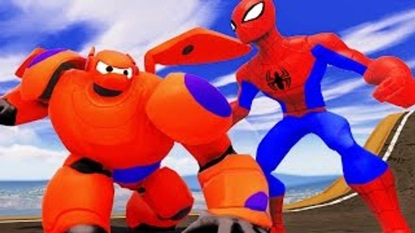 Spider Man & Baymax Big Hero 6 & Hiro Hamada !