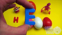 Disney Cars Surprise Egg Learn-A-Word! Spelling Valentines Day Words! Lesson 2