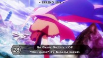 Top 50 Anime Openings (2014 / 2015) in Blu ray Quality