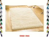 Heavy Weight Thick Luxurious Hand Tufted Wool Ivory Colour Shaggy Rug in 80 x 150 cm (2'7 x