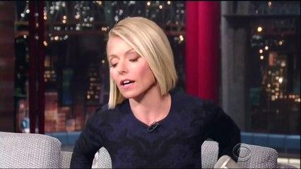 Kelly Ripa upskirt on David Letterman 9 24 14