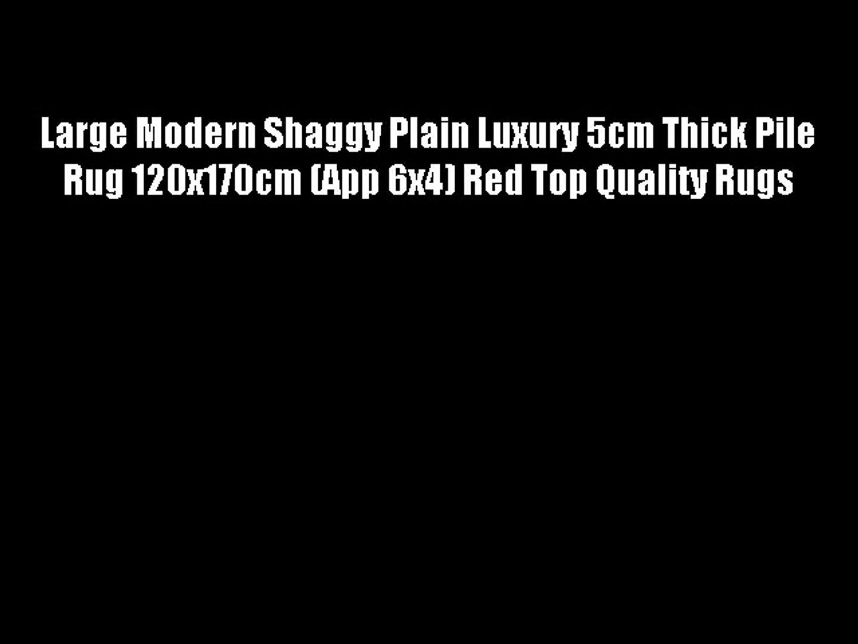 Contemporary Deep Pile Shaggy Soft Rug Two Sizes 5cm Pile Modern Medium Large