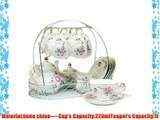 European Style Bone ChinaGolden camellia Printed Ceramic Porcelain Tea Cup Set With Lid And