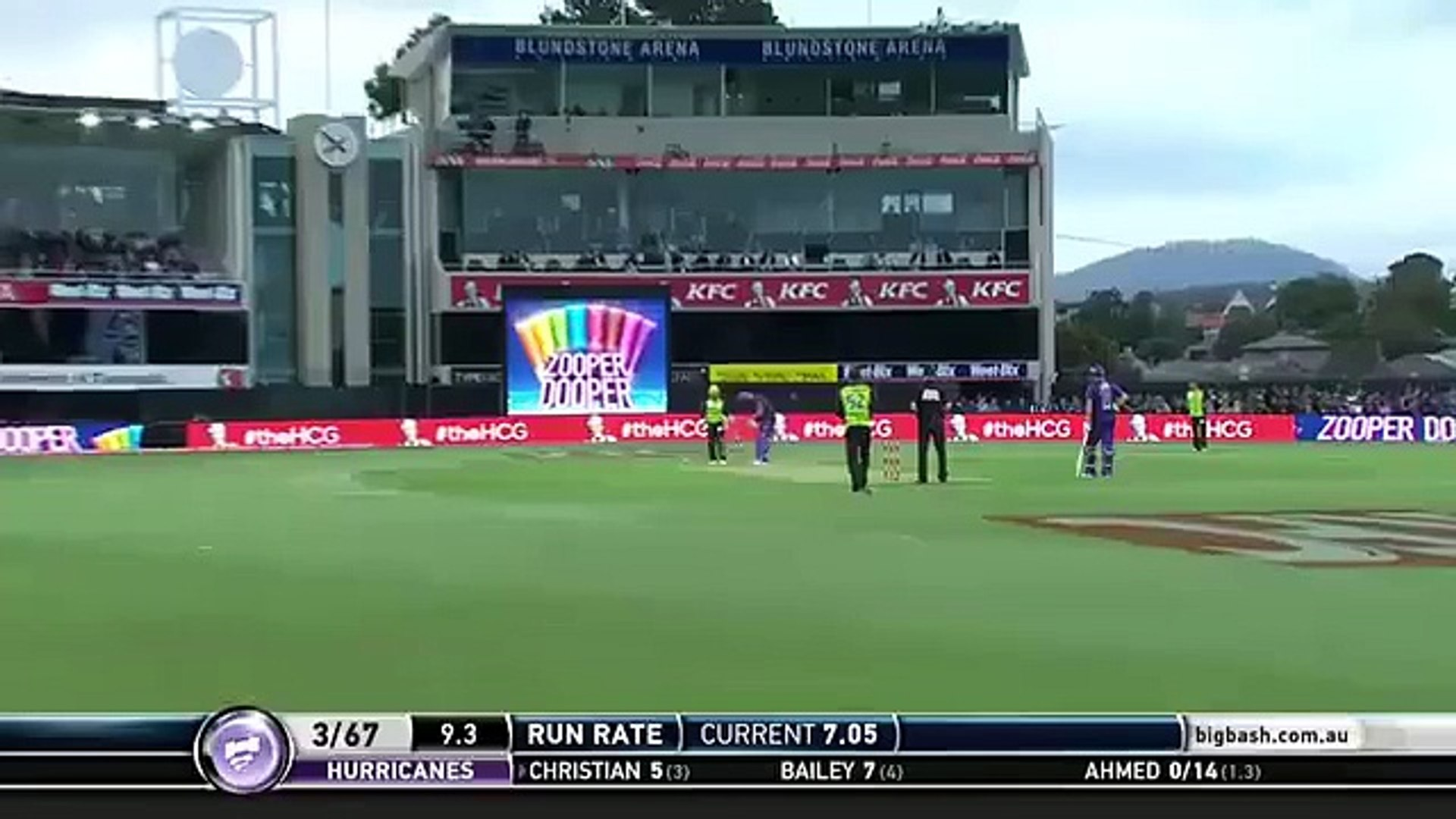 CATCH OF THE TOURNAMENT- Andre Russell takes a flying catch