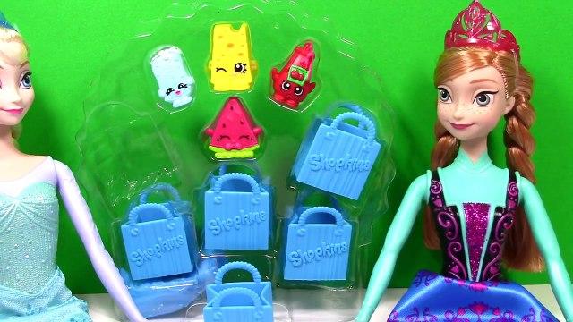 shopkins Shopkins Frozen Elsa and Anna Barbie Dolls Open Shopkins Toys shopkin toys