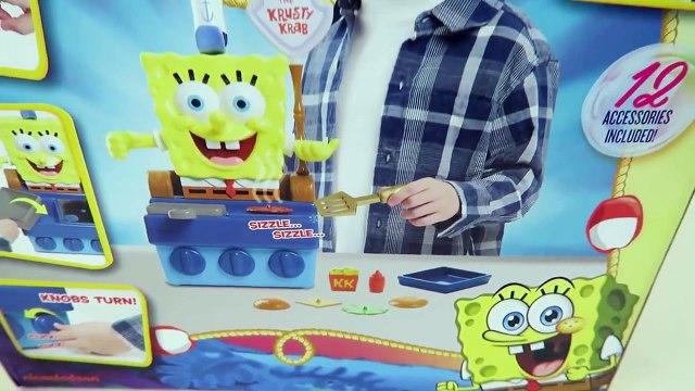 Spongebob Talking Krabby Patty Maker Spongebob Squarepants Playset Unboxing and Toy Review