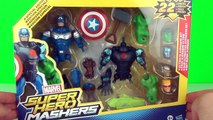 Marvel Ultimate Avengers Super Hero Mashers Playset Toy Review Unboxing Hasbro Toys