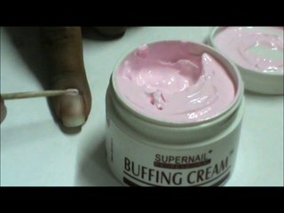 How to do nail buffing with nail buffing cream for nail buff tutorial at home for beginners