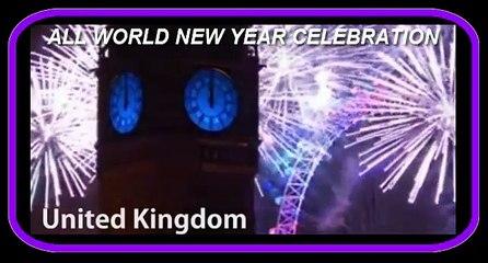 All world New Year celebration at japan, new york, london etc