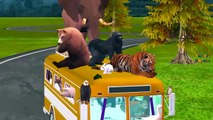 Top Most Amazing Animals Cartoons Singing Wheels On The Bus Go Round And Round Nursery Rhymes