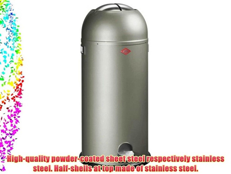 Wesco Kickmaster 33 Liter Zilver.Wesco Kickmaster Maxi 180 731 03 Pedal Bin Nickel Silver