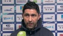 Après HAC - Amiens SC (3-2), réaction d'Oswald Tanchot