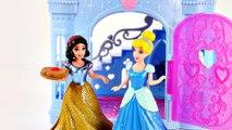 Magiclip Cinderella Castle Dress Swap Disney Princess Frozen Anna Ariel Mini Barbie Dolls