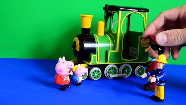 peppa pig games Fireman Sam Peppa pig Episode Greendale Train Postman Pat Play-doh Gorge Pig