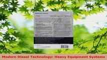 Download  Modern Diesel Technology Heavy Equipment Systems Ebook Free