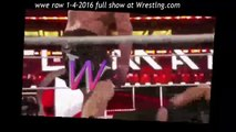 WWE Raw 4 january 2016 Brock Lesnar Attacks Roman Reigns -watch wwe monday night raw 1/4/2016