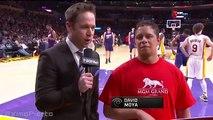 Lakers Fan Wins $95K with Half-Court Shot - Suns vs Lakers - January 3, 2016 - NBA 2015-16 Season